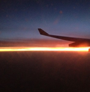 Sunset over the Indian Ocean