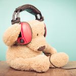 Ted wearing headphones