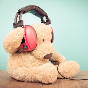 Ted wearing headphones